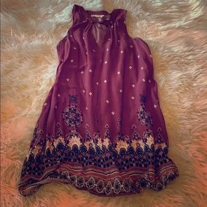 Maroon boho dress